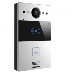 اینترکام اینترکام آکووکس Akuvox مدل R20A akuvox r20a sip door intercom with 120 degree wide angle video camera wall mount casing 300x300